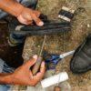 Los primeros zapatos que cosió Daniel